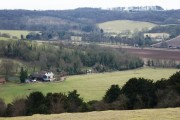 View into the Lower Dean valley from Watlington Hill