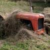 Nature versus tractor