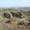Quarry, with fly-tipping