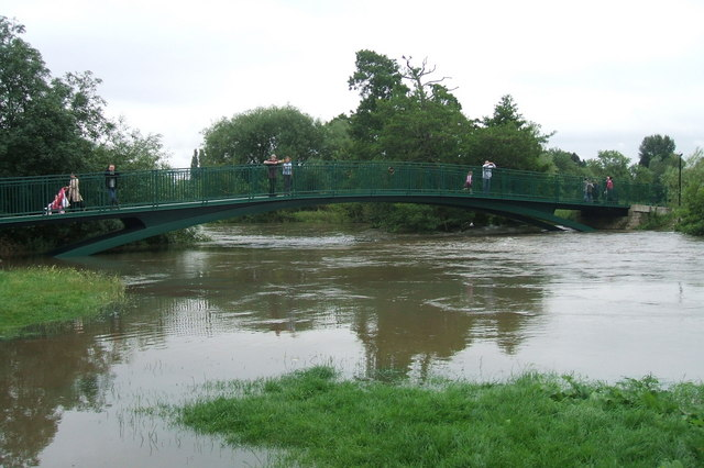 Charter Bridge & River Avon, July 2007 floods