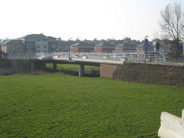 New bridge and developments at site of Potterton's factory