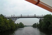 Warburton Bridge from ship on Manchester Ship Canal