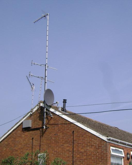TV aerials, Pickard Street, Warwick