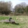 Sewer vent pipe in Leam Road field, Edmondscote