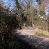 Footpath crosses road junction