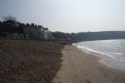 Totland Bay: the beach