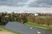 Marsworth Village from beside the Grand Union Canal