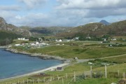 Scourie village and shore