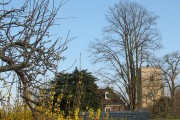 View towards the parish church, East Malling