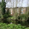 Living above flood level, Grange Close, Warwick