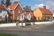Houses near Debenham Church