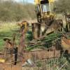 Rusting machinery