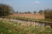 Farmland north of Halls Lane Bridge