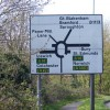Road  sign, Claydon