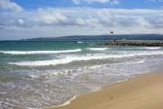 Sandbanks beach and breakwater