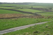 Farmland near lane crossroads