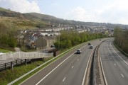 Cilfynydd from footbridge over the A470