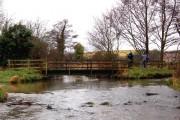 Footbridge by ford, Letheringsett