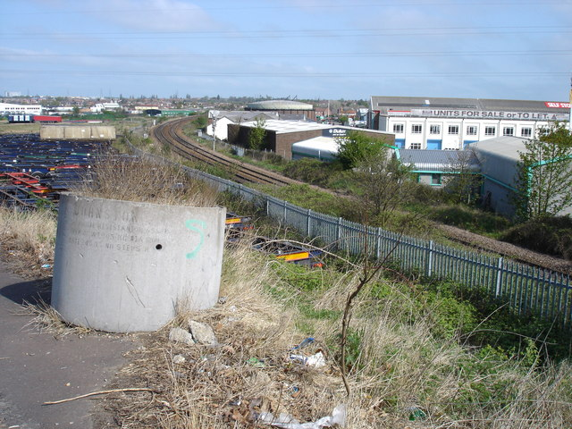 Railway line north out of Ipswich