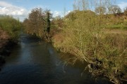 Afon Llwyd viewed from the Usk Road