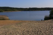 The north east beach at Frensham Great Pond