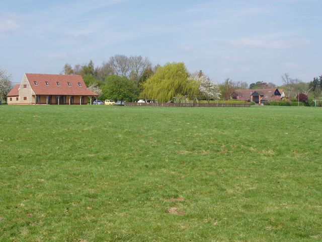 Hawstead Village Green with Hall and play area
