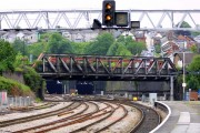 Girder bridge over the railway at Newport
