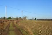 Track and farmland, Nuffield
