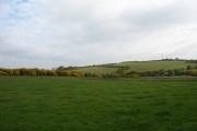 Improved grassland below Pen-yr-allt