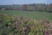 Farmland west of Luston