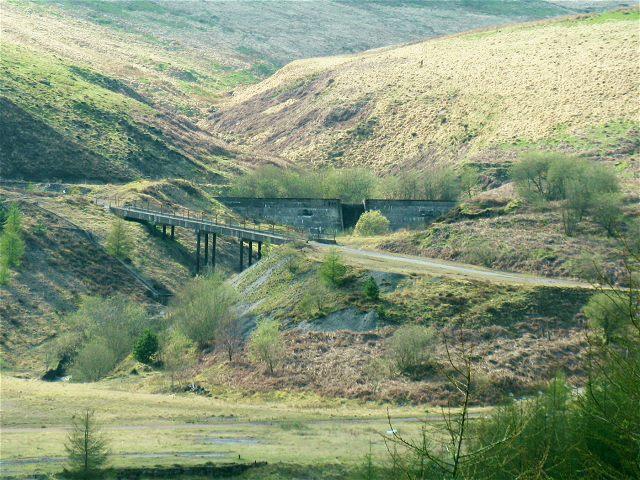 Bridge and dam on Nant Calch