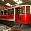 Prague tram No. 180 at Crich Tramway Museum