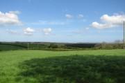 View across farmland
