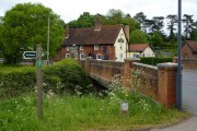 Bridge and pub, Tuddenham St Martin