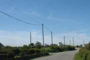 The western end of the village of Rhosgoch