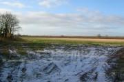 Farmland alongside the ditch