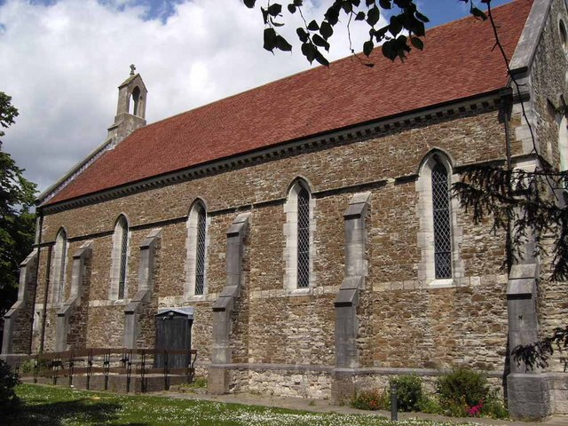 St. Thomas the Apostle church as seen from Elson Lane