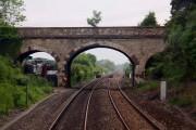 Bridge over the railway at Enslow