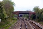 Bridge near Warkworth carries the Jurassic Way over the railway