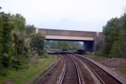M40 bridge over the railway