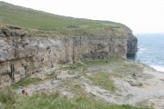 Dancing Ledge with rock climbers