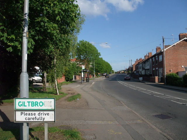 "Entrance to Giltbrook (""A suburb of IKEA"")"