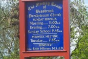 Information Board at Bessbrook  Presbyterian Church