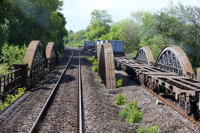 Nuneham Viaduct crosses the Thames