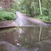 Ford along minor road near Frensham Little Pond