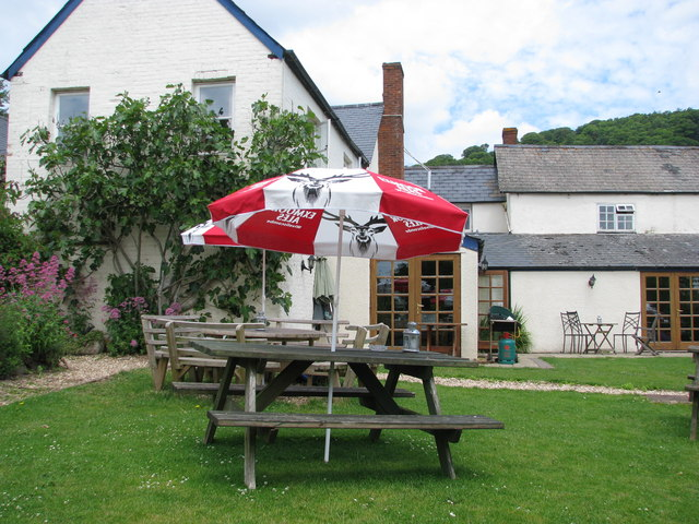 Garden of the Carew Arms in Crowcombe