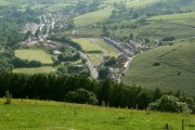 A view over Lewistown and farmland in the Ogmore Valley