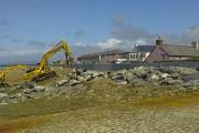 Adnewyddu'r amddiffynfeydd morol - - - Renovating sea defences