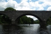 Boughrood: the bridge over the Wye