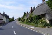 The B184 through High Roding, Essex